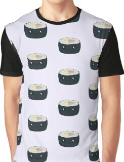 Smiling Sushi with Vegetables Graphic T-Shirt