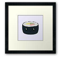 Smiling Sushi with Vegetables Framed Print