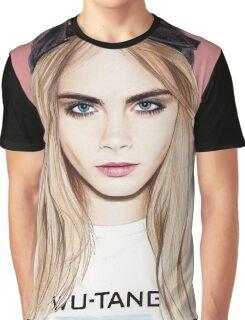 Cara Delevingne pencil portrait fanart Graphic T-Shirt