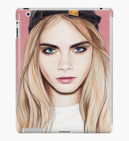 Cara Delevingne pencil portrait fanart iPad Case/Skin