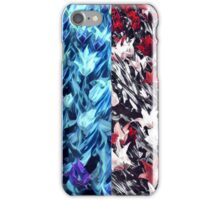 Brilliant blue and firey red iPhone Case/Skin