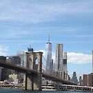 Brooklyn Bridge, Lower Manhattan Skyline, One World Trade Center, New York City by lenspiro