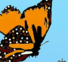 Welcome Autumn Butterfly #2 by Saundra Myles