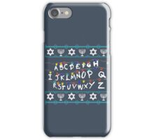 ST Lights Hanukkah Sweater iPhone Case/Skin