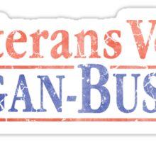 Retro Veterans Vote Reagan Bush 84  Sticker