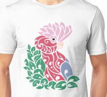 Galah cockatoo tribal tattoo pink rose-breasted parrot Unisex T-Shirt