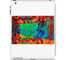 Sound Waves Bold Colorful Abstract Design iPad Case/Skin
