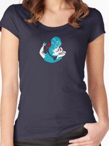 Blue Girlie Women's Fitted Scoop T-Shirt