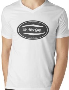 Mr. Nice Guy - Vintage Cool and Funny Clothing and Gifts Design Mens V-Neck T-Shirt