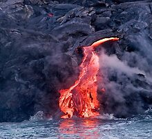 Lava Flow at Kalapana 2 by Alex Preiss