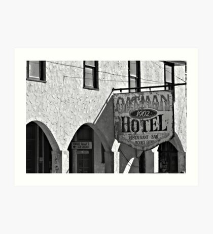 Oatman Hotel In Black & White Art Print