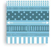 Cute Blue Patterned Case Canvas Print
