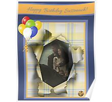 Jamie & Claire Birthday greeting Poster