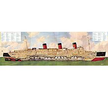 Queen Mary cutaway Photographic Print