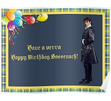 Jamie Fraser Birthday greeting Poster
