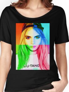 Cara Delevingne pencil portrait 3 Women's Relaxed Fit T-Shirt