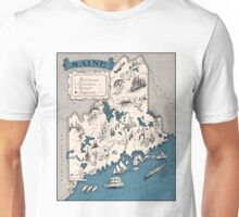1926 Maine map - Christmas gift - birthday gift - anniversary gift idea - gift for grandparent, mather, father Unisex T-Shirt