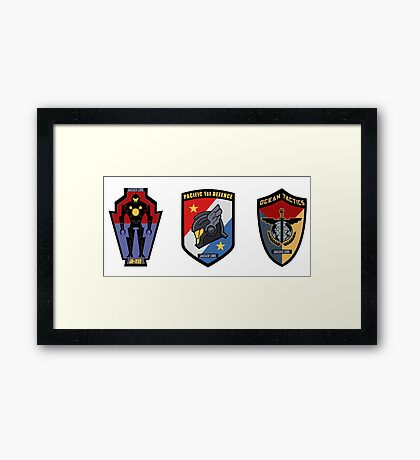 Pacific Defense Core badges Framed Print