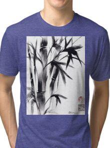 Compassion - Original Zen Spiritual Bamboo painting dedicated to the Dali Lama Tri-blend T-Shirt