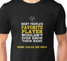 Baseball / Softball Favorite Player on Dark Unisex T-Shirt