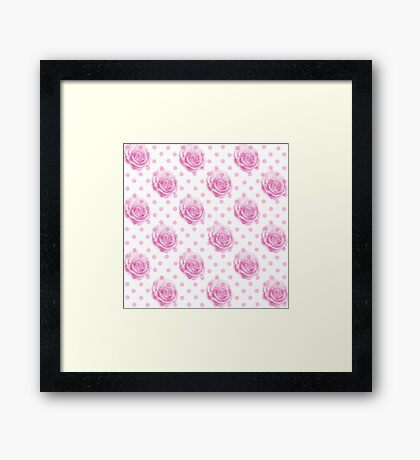 Pretty pink rose pattern Framed Print