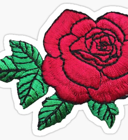 Embroidered Rose Sticker