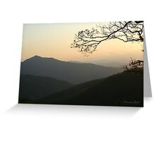 Smoky Mountain Misty Sundown Greeting Card