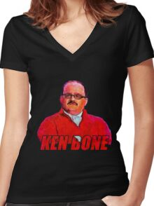 ken bone Women's Fitted V-Neck T-Shirt