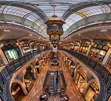 Queen Victoria Building - ultrawide perspective by Erik Schlogl