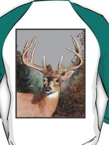 Hand drawn deer in the woods T-Shirt