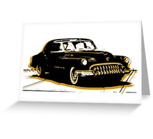 Black and Gold Car Greeting Card