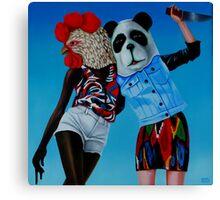 gallo VS panda 2013 Canvas Print