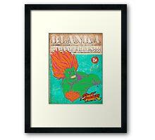 STREET FIGHTER: BLANKA ¡¡¡DANGEROUS!!! Framed Print