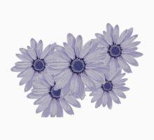 Flower Blue Kids Tee