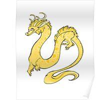 Albino Python Dragon Poster