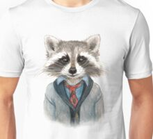 Raccoon in Sweater Unisex T-Shirt