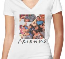 Friends-90210 Women's Fitted V-Neck T-Shirt