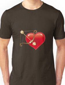 Red Heart with Cupid Bow Unisex T-Shirt