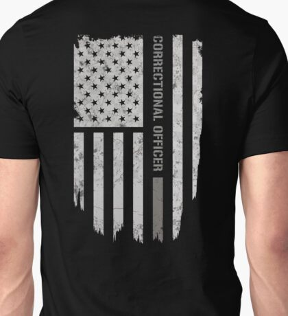 Thin Silver Line Correctional Officer T-Shirt Unisex T-Shirt