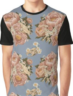 Fox Skull Bouquet Graphic T-Shirt