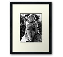 Sad Child Black and White Framed Print