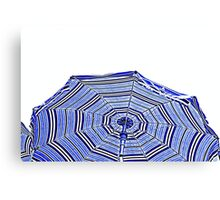 beach umbrella on sea Canvas Print
