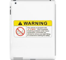 VTEC Warning Sticker, T-shirt, Phone Case iPad Case/Skin