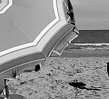deck chairs on the beach by spetenfia