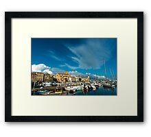 La Ciotat view across the harbour Framed Print