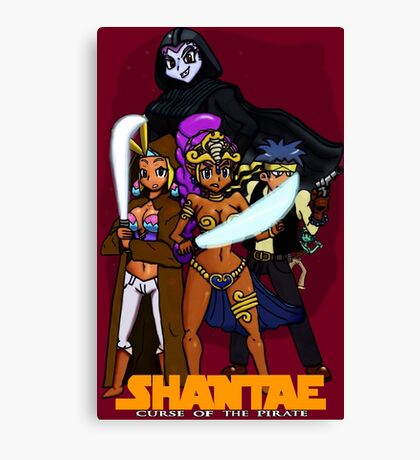 Shantae Wars Episode III:Curse Of The Pirate (UNOFFICIAL) Canvas Print