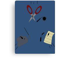 The Showdown: Rock vs Paper vs Scissors Canvas Print