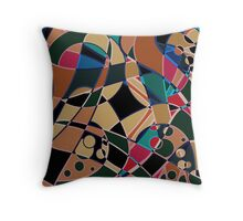 Abstraction. Curves and bends.  Throw Pillow