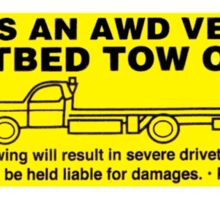 Flatbed Tow Only!! Subaru AWD Sticker