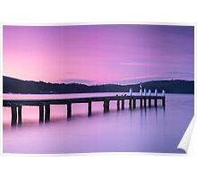 Port Arthur pier and hillside. Poster